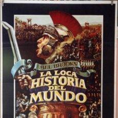 Cine: LA LOCA HISTORIA DEL MUNDO. MEL BROOKS. CARTEL ORIGINAL 1981. 70X100. Lote 173597164