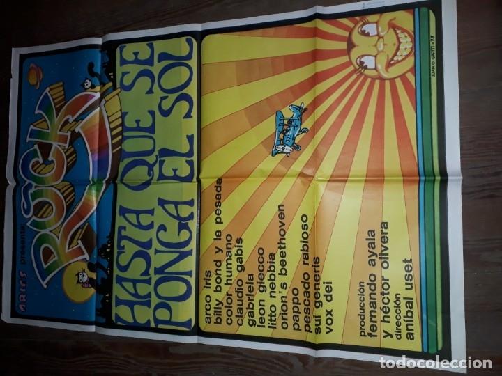 AFICHE, ROCK HASTA QUE SE PONGA EL SOL. SUI GENERIS, PAPPO, GIECCO, VOX DEI, NEBBIA, ARCO IRIS, (Cine - Posters y Carteles - Musicales)