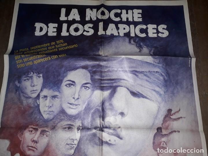 LA NOCHE DE LOS LÁPICES. HÉCTOR OLIVERA ARGENTINA IMPECABLE (Cine- Posters y Carteles - Drama)