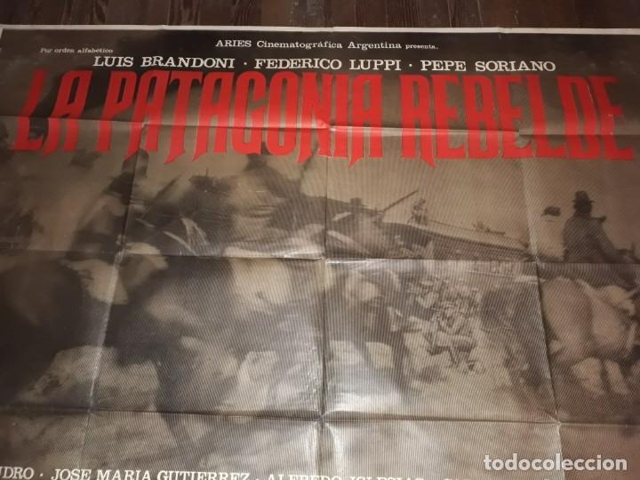 LA PATAGONIA REBELDE AFICHE POSTER DOBLE. OLIVERA BAYER LUPPI BRANDONI 1974 (Cine- Posters y Carteles - Drama)