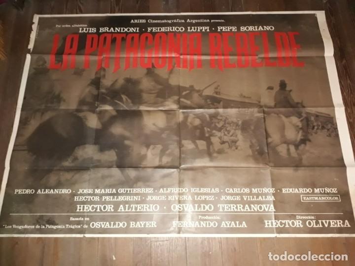 Cine: La Patagonia rebelde afiche poster doble. Olivera Bayer Luppi Brandoni 1974 - Foto 2 - 173607610