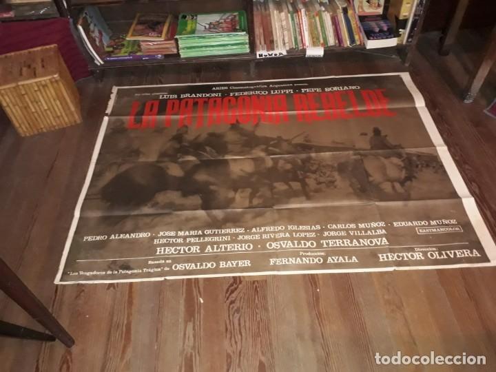 Cine: La Patagonia rebelde afiche poster doble. Olivera Bayer Luppi Brandoni 1974 - Foto 3 - 173607610