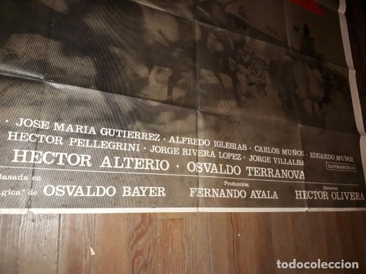Cine: La Patagonia rebelde afiche poster doble. Olivera Bayer Luppi Brandoni 1974 - Foto 4 - 173607610
