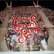 Cine: BUENOS AIRES ROCK. AFICHE CARTEL OLIVERA SPINETTA GIECO NEBBIA LERNER, ETC. Lote 173650714