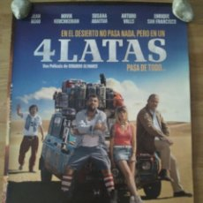Cine: 4 LATAS - APROX 70X100 CARTEL ORIGINAL CINE (L66). Lote 173679380