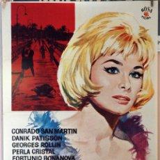 Cine: LA MUERTE SILBA UN BLUES. JESÚS FRANCO. CARTEL ORIGINAL 1963 70X100. Lote 173812250