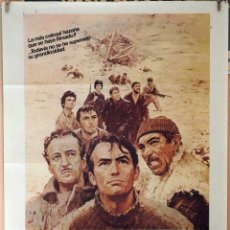 Cine: LOS CAÑONES DE NAVARONE. GREGORY PECK-DAVID NIVEN-ANTHONNY QUINN. CARTEL ORIGINAL 1982. Lote 173812739