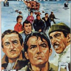 Cine: LOS CAÑONES DE NAVARONE. GREGORY PECK-DAVID NIVEN-ANTHONNY QUINN. CARTEL ORIGINAL 1970 70X100. Lote 173812853