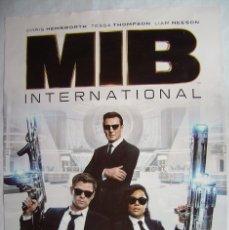 Cine: MIB INTERNACIONAL, CON LIAM NEESON. POSTER PROMOCIONAL 68 X 98 CMS. 2019.. Lote 173880455