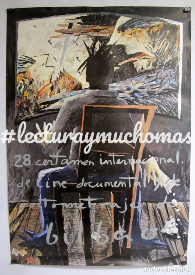 28 CERTAMEN INTERNACIONAL DE CINE DOCUMENTAL Y CORTOMETRAJE DE BILBAO (1986) CARTEL ORIGINAL 69X99 (Cine - Posters y Carteles - Documentales)