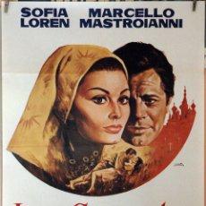 Cine: LOS GIRASOLES. SOFIA LOREN-MARCELLO MASTROIANNI-VITTORIO DE SICA. CARTEL ORIGINAL 70X100. Lote 173902779