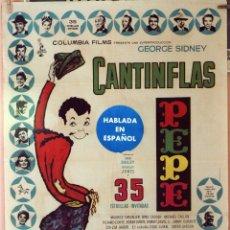 Cine: PEPE. CANTINFLAS, CARTEL ORIGINAL 1961. 70X100. Lote 173903415