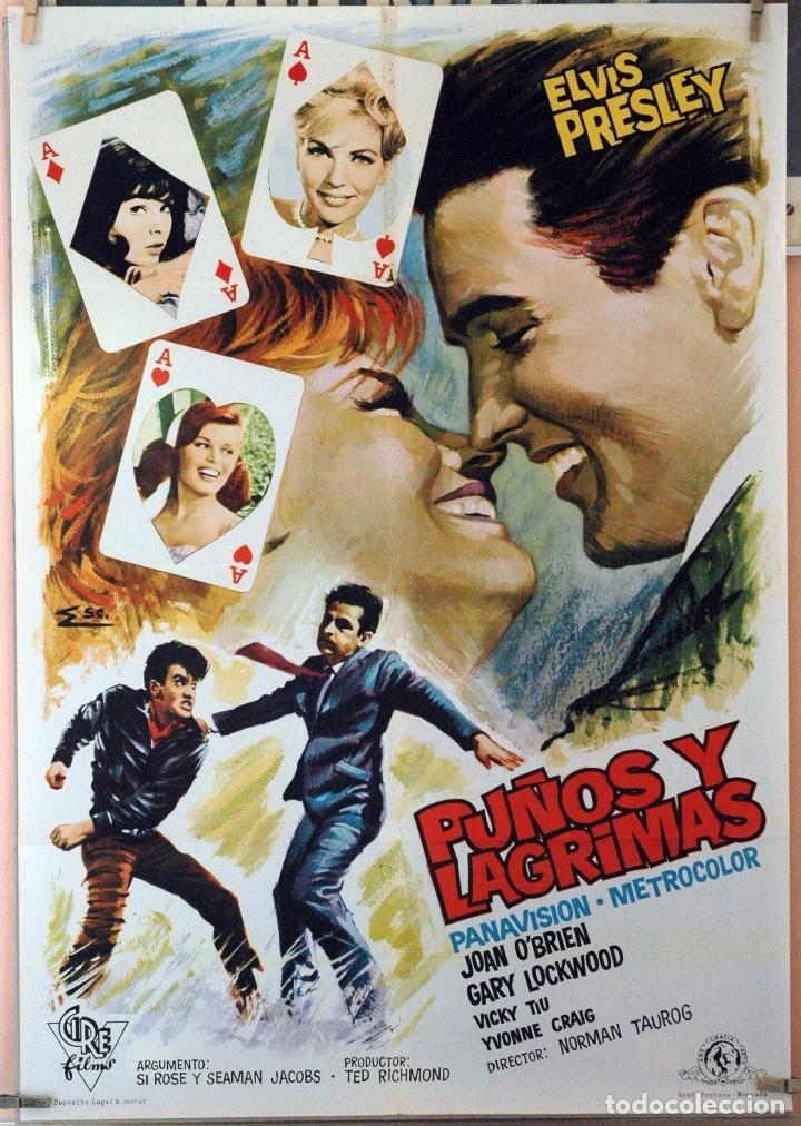 PUÑOS Y LÁGRIMAS. ELVIS PRESLEY. CARTEL ORIGINAL 1967. 70X100 (Cine- Posters y Carteles - Drama)