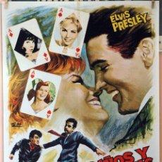 Cine: PUÑOS Y LÁGRIMAS. ELVIS PRESLEY. CARTEL ORIGINAL 1967. 70X100. Lote 173903628