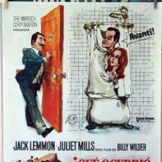 Cine: ¿QUÉ OCURRIÓ ENTRE MI PADRE Y TU MADRE?. BILLY WILDER-JACK LEMON. CARTEL ORIGINAL 1973. 70X100. Lote 173946584