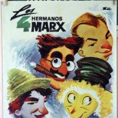 Cine: SOPA DE GANSO. HERMANOS MARX. CARTEL ORIGINAL 1965. 70X100. Lote 173946664