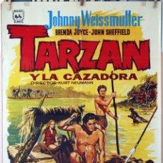 Cine: TARZÁN Y LA CAZADORA. JOHNNY WEIISMULLER. CARTEL ORIGINAL 1971. 70X100. Lote 173946808