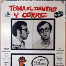 Cine: TOMA EL DINERO Y CORRE. WOODY ALLEN. CARTEL ORIGINAL 1972. 70X100. Lote 173947113