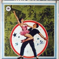 Cine: UN AMERICANO EN PARÍS. GENE KELLY-LESLIE CARON-VINCENTE MINELLI. CARTEL ORIGINAL 1980. 70X100. Lote 173947322