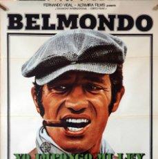 Cine: YO, IMPONGO MI LEY A SANGRE Y FUEGO. JEAN PAUL BELMONDO. CARTEL ORIGINAL 1979. 70X100. Lote 174007780