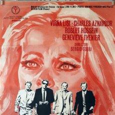 Cine: PÁNICO. VIRNA LISI-CHARLES AZNAVOUR. CARTEL ORIGINAL 1970. 70X100. Lote 174032973