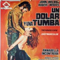 Cine: UN DÓLAR Y UNA TUMBA. LEON KLIMOVSKY. CARTEL ORIGINAL 1970. 70X100. Lote 174053312