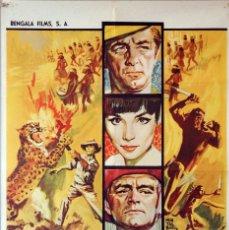 Cine: SAFARI EN MALASIA. ROBERT MITCHUM-ELSA MARTINELLI-JACK HAWKINS. CARTEL ORIGINAL 1964. 70X100. Lote 174053477
