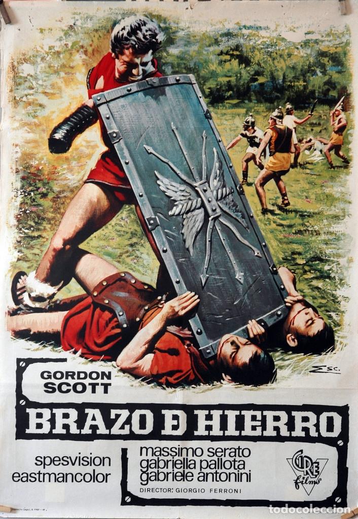 BRAZO DE HIERRO. GORDON SCOTT. CARTEL ORIGINAL 1969. 70X100 (Cine - Posters y Carteles - Bélicas)