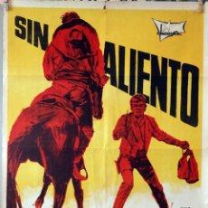 Cine: SIN ALIENTO. FERNANDO CERCHIO. CARTEL ORIGINAL 1969. 70X100. Lote 174053595