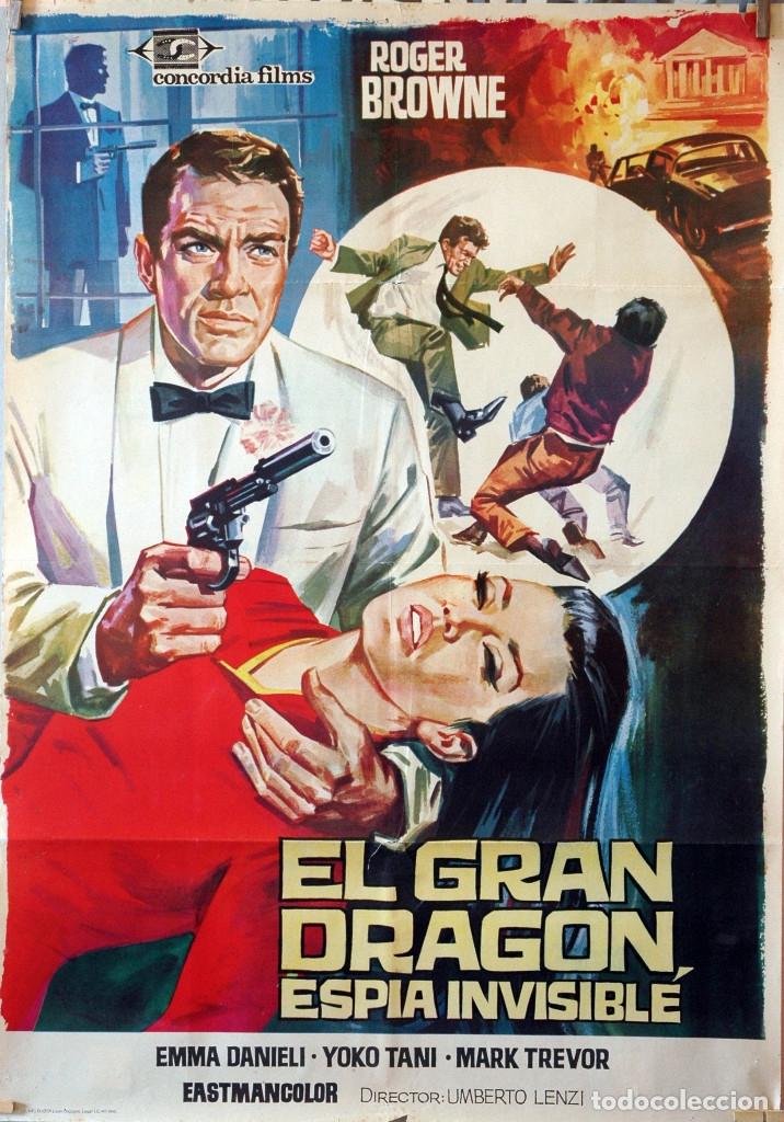 EL GRAN DRAGÓN, ESPÍA INVISIBLE. ROGER BROWNE. CARTEL ORIGINAL 1966. 70X100 (Cine - Posters y Carteles - Acción)