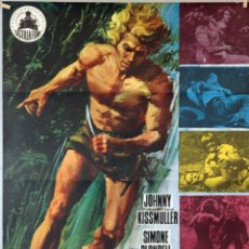 Cine: TARZÁN, EL FABULOSO HOMBRE DE LA JUNGLA. JOHNNY KISSMULLER. CARTEL ORIGINAL 1972. 70X100. Lote 174113102