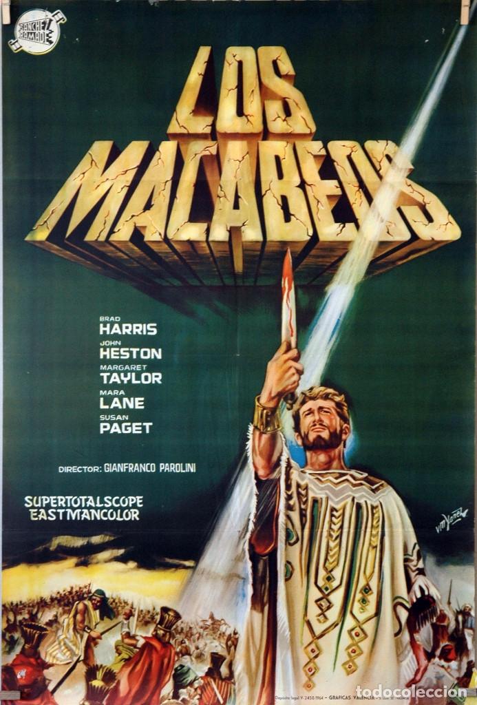 LOS MACABEOS, GIANFRANCO PAROLINI. CARTEL ORIGINAL 1964. 70X100 (Cine - Posters y Carteles - Bélicas)