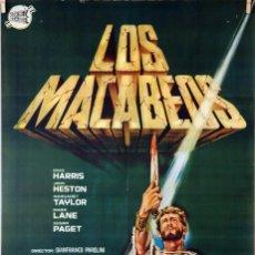 Cine: LOS MACABEOS, GIANFRANCO PAROLINI. CARTEL ORIGINAL 1964. 70X100. Lote 174113512