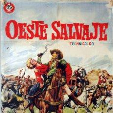 Cine: OESTE SALVAJE. CARTEL ORIGINAL 1962. 100X70. Lote 174115615