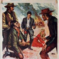 Cine: LA MUERTE NO CUENTA. MARK DAMON. CARTEL ORIGINAL 1972. 70X100. Lote 174115639