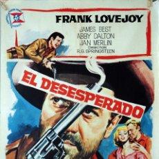 Cine: EL DESESPERADO. FRANK LOVEJOY. CARTEL ORIGINAL 1964. 70X100. Lote 174115835