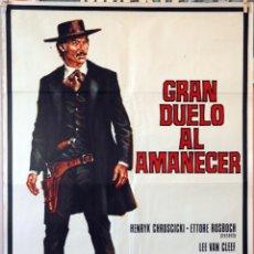 Cine: GRAN DUELO AL AMANECER. LEE VAN CLEEF. CARTEL ORIGINAL 1974. 70X100. Lote 174119435