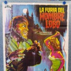 Cine: LA FURIA DEL HOMBRE LOBO. PAUL NASCHY, PERLA CRISTAL, MICHAEL RIVERS AÑO 1975. POSTER ORIGINAL. Lote 174125730