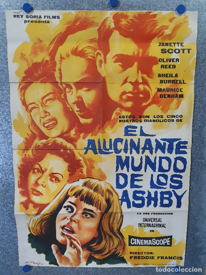 EL ALUCINANTE MUNDO DE LOS ASHBY. JANETTE SCOTT, OLIVER REED. AÑO 1965. POSTER ORIGINAL (Cine - Posters y Carteles - Terror)