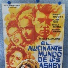 Cine: EL ALUCINANTE MUNDO DE LOS ASHBY. JANETTE SCOTT, OLIVER REED. AÑO 1965. POSTER ORIGINAL. Lote 174163794