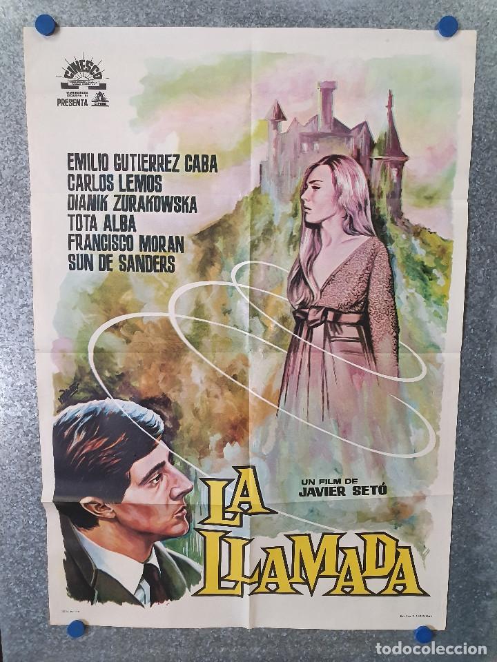 LA LLAMADA. EMILIO GUTIÉRREZ CABA, CARLOS LEMOS, FRANCISCO MORÁN. AÑO 1962. POSTER ORIGINAL (Cine - Posters y Carteles - Terror)