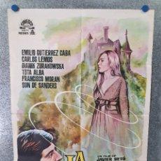 Cine: LA LLAMADA. EMILIO GUTIÉRREZ CABA, CARLOS LEMOS, FRANCISCO MORÁN. AÑO 1962. POSTER ORIGINAL. Lote 174164590