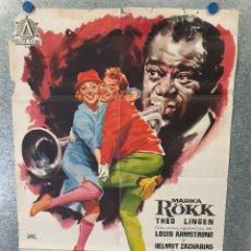 Cine: LOS CONFLICTOS DE IRENE. MARIKA RÖKK, THEO LINGEN, LOUIS AMSTRONG. AÑO 1961. POSTER ORIGINAL. Lote 174165245