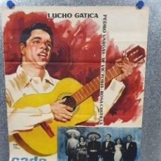 Cine: CADA QUIEN CON SU MUSICA. LUCHO GATICA. 1960 POSTER ORIGINAL . Lote 174286097