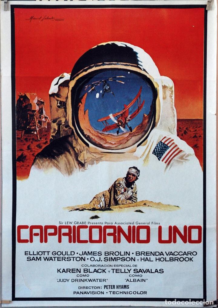 CAPRICORNIO UNO. PETER HYAMS-ELIOTT GOULD. CARTEL ORIGINAL. 70X100 (Cine - Posters y Carteles - Ciencia Ficción)