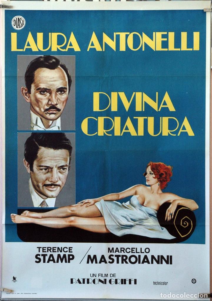 DIVINA CRIATURA. LAURA ANTONELLI-MARCELLO MASTROIANNI. CARTEL ORIGINAL 1976. 70X100 (Cine- Posters y Carteles - Drama)