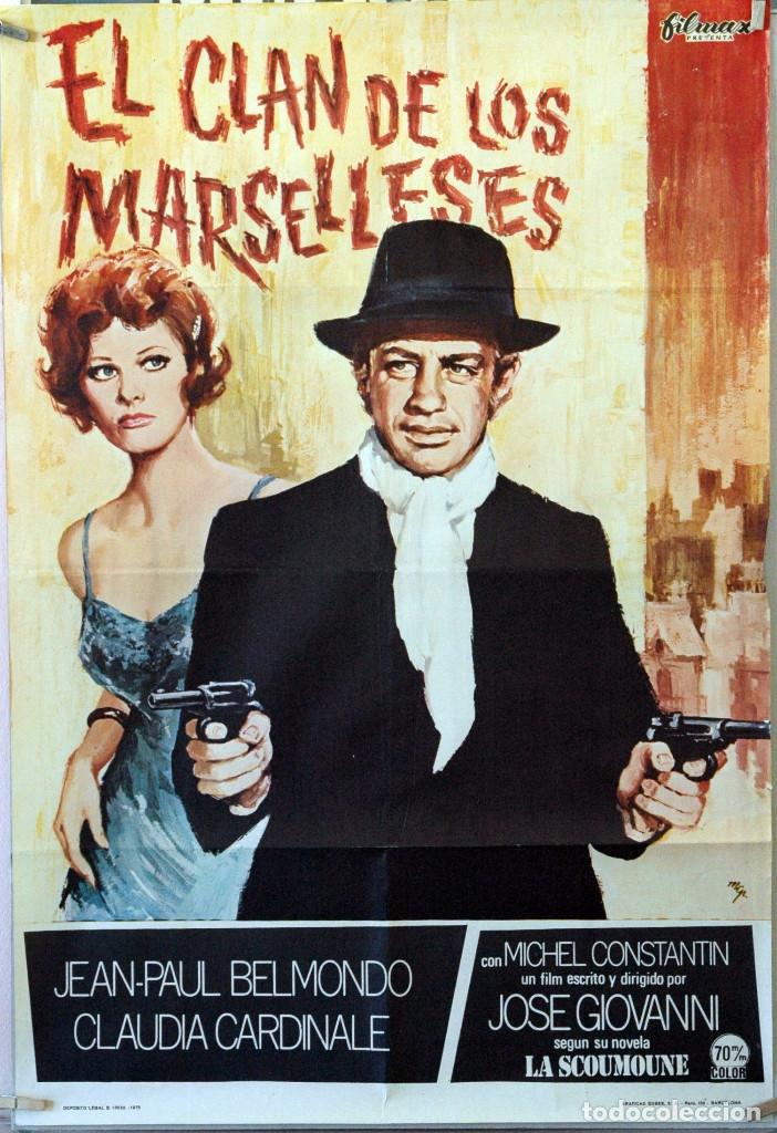 EL CLAN DE LOS MARSELLESES. JEAN PAUL BELMONDO-CLAUDIA CARDINALE. CARTEL ORIGINAL 1973. 70X100 (Cine - Posters y Carteles - Acción)
