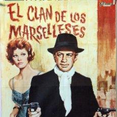 Cine: EL CLAN DE LOS MARSELLESES. JEAN PAUL BELMONDO-CLAUDIA CARDINALE. CARTEL ORIGINAL 1973. 70X100. Lote 174548023