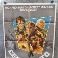 Cine: CERCO ROTO. RICHARD BURTON, ROD STEIGER, ROBERT MITCHUM AÑO 1979. POSTER ORIGINAL. . Lote 174594018