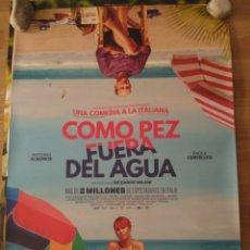 Cine: CÓMO PEZ FUERA DEL AGUA - APROX 70X100 CARTEL ORIGINAL CINE (L68). Lote 174691093